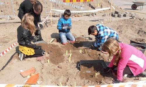 Gesällen, Archaeology with young students